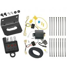 Trailer Wiring and Bracket and Light Tester For 18-19 Toyota Camry All Styles 4-Flat Harness Plug Play