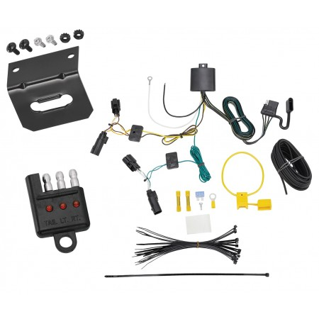 Trailer Wiring and Bracket and Light Tester For 18-20 GMC Terrain Without Relay Provisions 4-Flat Harness Plug Play
