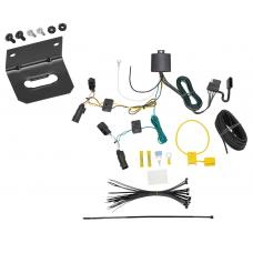 Trailer Wiring and Bracket For 18-20 GMC Terrain Without Relay Provisions 4-Flat Harness Plug Play