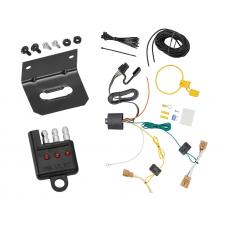 Trailer Wiring and Bracket and Light Tester For 18-19 VW Volkswagen Tiguan 4-Flat Harness Plug Play