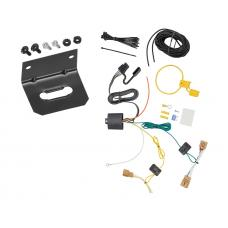 Trailer Wiring and Bracket For 18-19 VW Volkswagen Tiguan 4-Flat Harness Plug Play