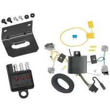 Trailer Wiring and Bracket and Light Tester For 14-17 Ford Fiesta 4 Dr. Sedan 4-Flat Harness Plug Play