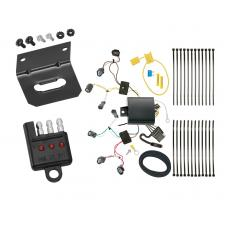 Trailer Wiring and Bracket and Light Tester For 14-19 Honda Fit All Styles 4-Flat Harness Plug Play