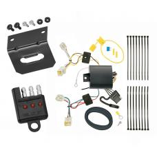 Trailer Wiring and Bracket and Light Tester For 18-20 Subaru WRX All Styles 4-Flat Harness Plug Play