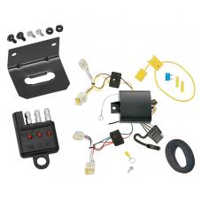 Trailer Wiring and Bracket and Light Tester For 14-19 Mitsubishi Mirage Except G4 4-Flat Harness Plug Play
