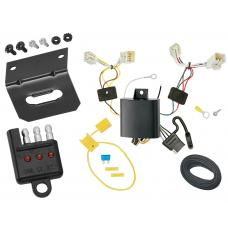 Trailer Wiring and Bracket and Light Tester For 13-17 Hyundai Accent 5-Dr Hatchback 4-Flat Harness Plug Play