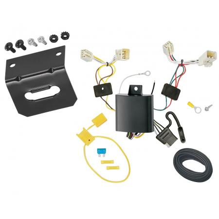 Trailer Wiring and Bracket Kit For 13-17 Hyundai Accent 5-Dr Hatchback 4-Flat Harness Plug Play