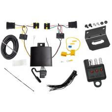 Trailer Wiring and Bracket and Light Tester For 14-17 FIAT 500L All Styles 4-Flat Harness Plug Play