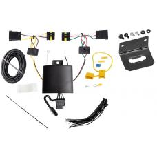 Trailer Wiring and Bracket For 14-17 FIAT 500L All Styles 4-Flat Harness Plug Play