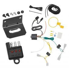 Trailer Wiring and Bracket and Light Tester For 06-07 Nissan Murano 4-Flat Harness Plug Play