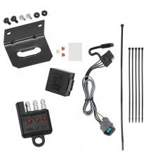 Trailer Wiring and Bracket and Light Tester For 17-18 Honda Ridgeline All Styles 4-Flat Harness Plug Play