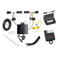 Trailer Wiring and Bracket and Light Tester For 2019 Jeep Cherokee All Styles 4-Flat Harness Plug Play