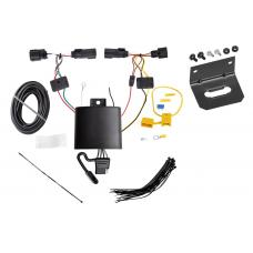 Trailer Wiring and Bracket For 2019 Jeep Cherokee All Styles 4-Flat Harness Plug Play
