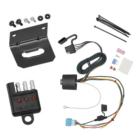 Trailer Wiring and Bracket and Light Tester For 18-20 Honda Odyssey With Fuse Provisions 4-Flat Harness Plug Play