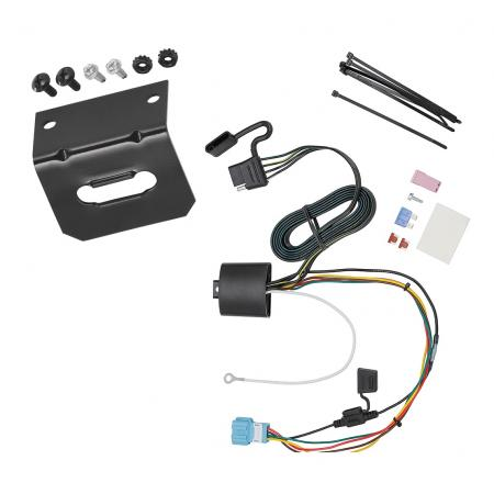 Trailer Wiring and Bracket For 18-20 Honda Odyssey With Fuse Provisions 4-Flat Harness Plug Play