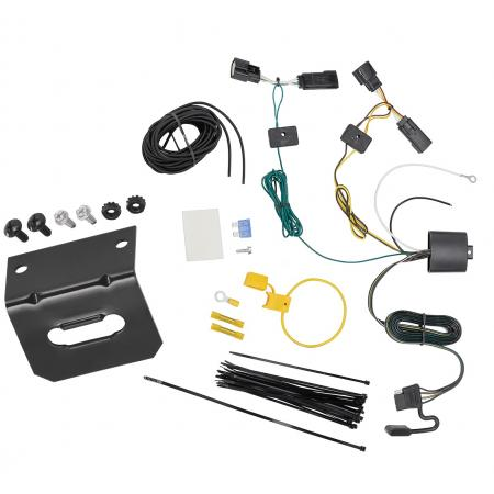 Trailer Wiring and Bracket For 18-19 Buick Regal Sportback TourX 4-Flat Harness Plug Play