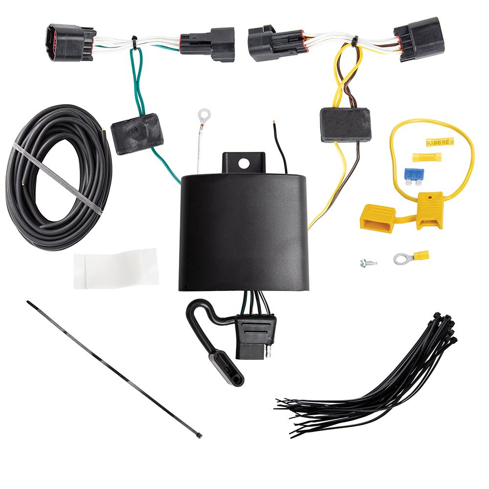Trailer Wiring Harness Kit For 17-19 Jaguar F-Pace 18-19 Land Rover on trailer plugs, trailer mounting brackets, trailer generator, trailer fuses, trailer brakes, trailer hitch harness,