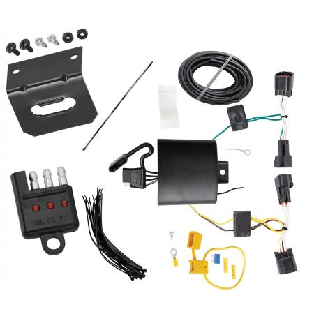 Trailer Wiring and Bracket and Light Tester For 17-19 Jaguar F-Pace 18-19 Land Rover Range Rover Velar 4-Flat Harness Plug Play