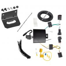 Trailer Wiring and Bracket For 17-19 Jaguar F-Pace 18-19 Land Rover Range Rover Velar 4-Flat Harness Plug Play