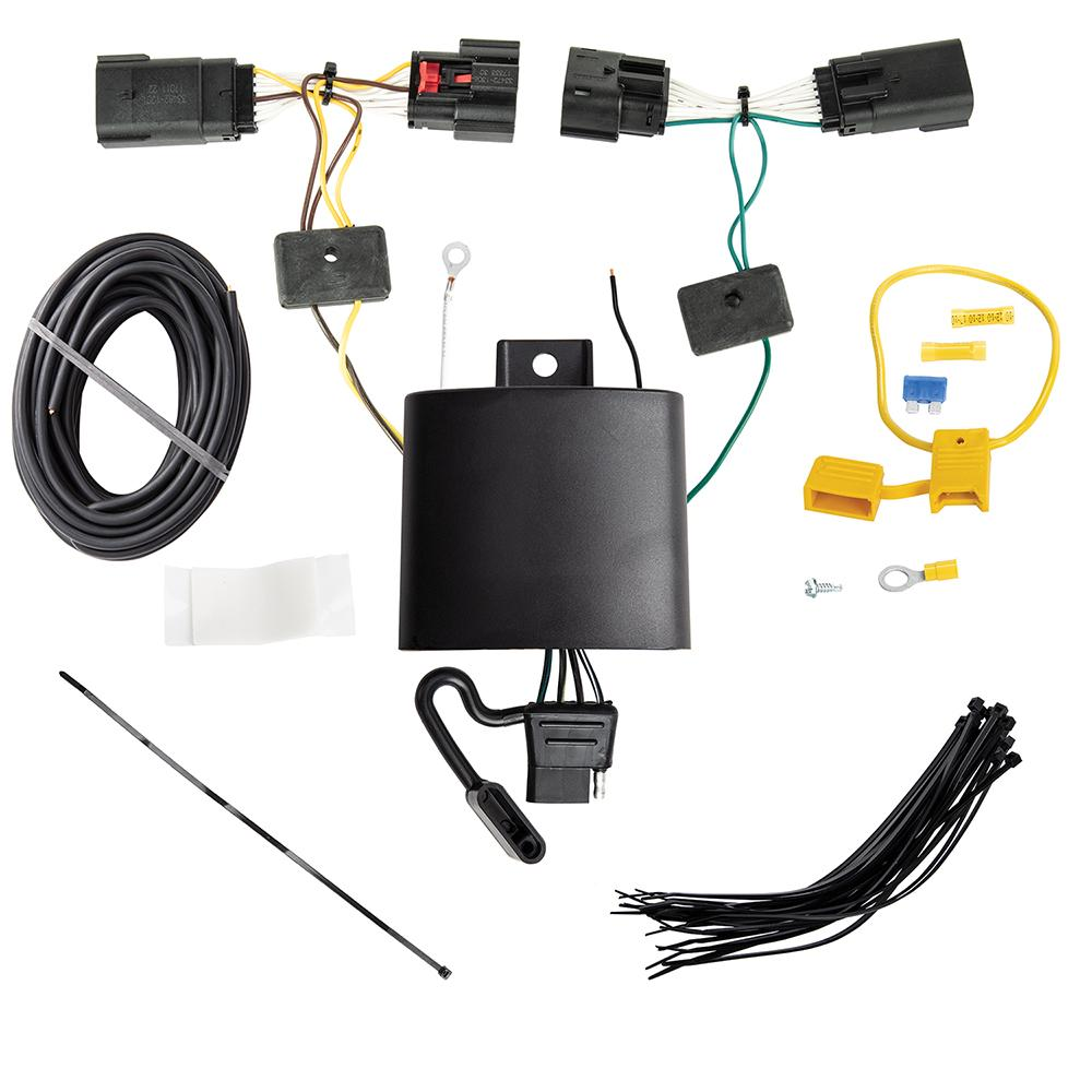 Trailer Wiring Harness Kit For 2020 Jeep Gladiator 18-19 Wrangler JL on jeep navigation system, jeep bed liner, jeep roof rack, jeep air conditioning, engine wiring, jeep armrest, jeep bucket seats, jeep trailer lights, jeep trailer harness, jeep trailer hitch, jeep floor mats, jeep brakes, jeep trailer connector, jeep trailer design, jeep alloy wheels, jeep trailer receiver, jeep towing, ford wiring, jeep trailer interior, jeep gauges,