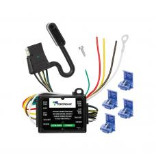 """Taillight Converter w/12"""" Leads and 60"""" 4-Flat Wiring Harness Tow Plug Kit Car End Connector"""