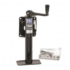 """Pro Series 2,000 lbs. Round Snap-Ring Swivel Trailer Jack Bolt-on Topwind 10"""" Lift"""