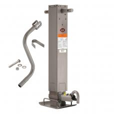 "Pro Series 12,000 lbs. Square Trailer Jack 12.5"" Lift Drop Leg Non Spring Return Pin on Side w/ Crank"