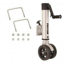 "Fulton F2 Trailer Jack 1,600 lbs. Bolt-On w/ Dual 7"" Wheels Fits 3"" x 5"" Frames Lifetime Warranty"