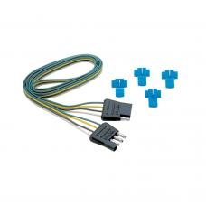 """4-Flat Wiring Harness Tow Plug Kit Loop, 18"""" Long (Includes Wire Taps)"""