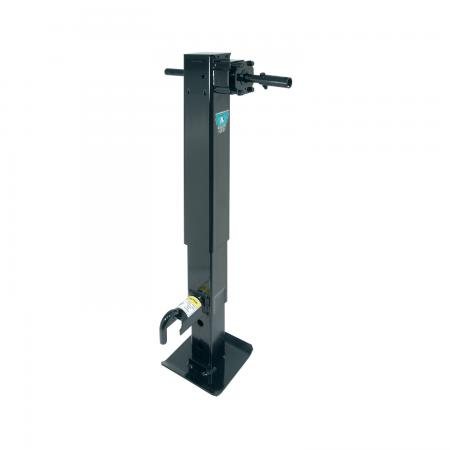 "Bulldog 2-Speed 12,000 lbs Square Trailer Jack Drop Leg w/ Spring Return Planetary Gearbox 26"" Lift"