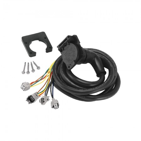 90 Degree Fifth Wheel Adapter Harness, 7-Way RV Round Tow Plug Harness Flat Pin Connector Assembly 7 ft., Toyota