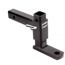 "Adjustable Trailer Tow Hitch Ball Mount 5,000 lbs Fits 2"" Receiver Max Drop 7-1/2"" Rise 6-1/4"" 1"" Ball Hole 13-1/2"" Long"