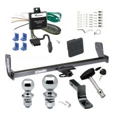 "Trailer Tow Hitch For 93-02 Toyota Corolla Chevy Geo Prizm Deluxe Package Wiring 2"" and 1-7/8"" Ball and Lock"