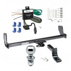 "Trailer Tow Hitch For 93-02 Toyota Corolla Chevy Geo Prizm Complete Package w/ Wiring Draw Bar and 2"" Ball"