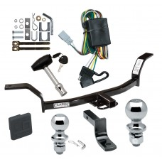 """Trailer Tow Hitch For 94-01 Acura Integra Deluxe Package Wiring 2"""" and 1-7/8"""" Ball and Lock"""