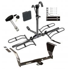 Trailer Tow Hitch For 91-02 Saturn SC SC1 SC2 SL SL1 SL2 SW1 SW2 Platform Style 2 Bike Rack w/ Hitch Lock and Cover