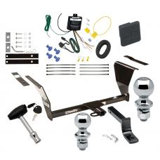 """Trailer Tow Hitch For 91-92 Saturn SC 93-95 SC1 SC2 2 Dr. Coupe Deluxe Package Wiring 2"""" and 1-7/8"""" Ball and Lock"""