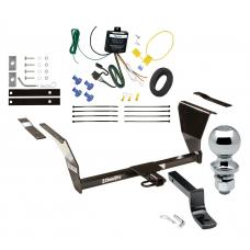 """Trailer Tow Hitch For 91-92 Saturn SC 93-95 SC1 SC2 2 Dr. Coupe Complete Package w/ Wiring Draw Bar and 2"""" Ball"""