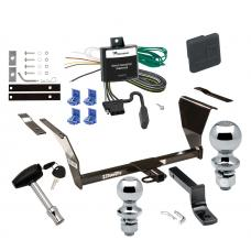 """Trailer Tow Hitch For 91-02 Saturn SL SL1 SL2 SW1 SW2 SC SC1 SC2 Deluxe Package Wiring 2"""" and 1-7/8"""" Ball and Lock"""