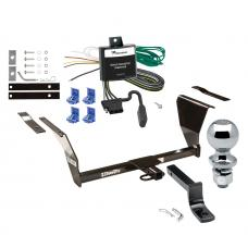 """Trailer Tow Hitch For 91-02 Saturn SL SL1 SL2 SW1 SW2 SC SC1 SC2 Complete Package w/ Wiring Draw Bar and 2"""" Ball"""