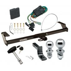 """Trailer Tow Hitch For 96-98 GEO Chevy Tracker 89-98 Suzuki Sidekick Except Sport Deluxe Package Wiring 2"""" and 1-7/8"""" Ball and Lock"""