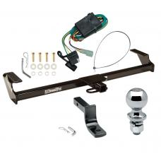 """Trailer Tow Hitch For 96-98 GEO Chevy Tracker 89-98 Suzuki Sidekick Except Sport Complete Package w/ Wiring Draw Bar and 2"""" Ball"""