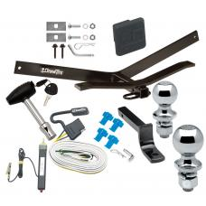 "Trailer Tow Hitch For 95-00 Chevy Lumina Monte Carlo Deluxe Package Wiring 2"" and 1-7/8"" Ball and Lock"