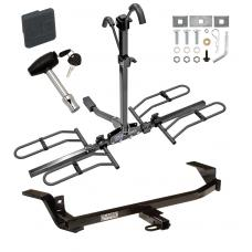 Trailer Tow Hitch For 97-05 Chevy Malibu 97-99 Oldsmobile Cutlass Platform Style 2 Bike Rack w/ Hitch Lock and Cover