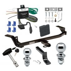 """Trailer Tow Hitch For 97-05 Chevy Malibu 97-99 Oldsmobile Cutlass Deluxe Package Wiring 2"""" and 1-7/8"""" Ball and Lock"""