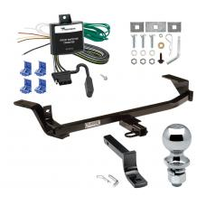 """Trailer Tow Hitch For 97-05 Chevy Malibu 97-99 Oldsmobile Cutlass Complete Package w/ Wiring Draw Bar and 2"""" Ball"""