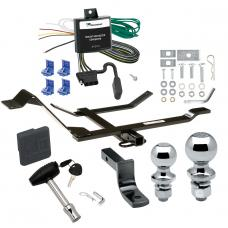 """Trailer Tow Hitch For 98-10 Volkswagen Beetle Golf Deluxe Package Wiring 2"""" and 1-7/8"""" Ball and Lock"""