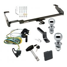 """Trailer Tow Hitch For 00-02 Ford Focus Wagon Before 11/2002 Deluxe Package Wiring 2"""" and 1-7/8"""" Ball and Lock"""