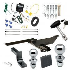 """Trailer Tow Hitch For 96-99 Infiniti I30 03 Nissan Maxima Sedan Deluxe Package Wiring 2"""" and 1-7/8"""" Ball and Lock"""