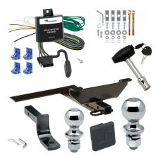 """Trailer Tow Hitch For 95-02 Nissan Maxima Sedan 00-04 Infiniti I30 I35 Deluxe Package Wiring 2"""" and 1-7/8"""" Ball and Lock"""